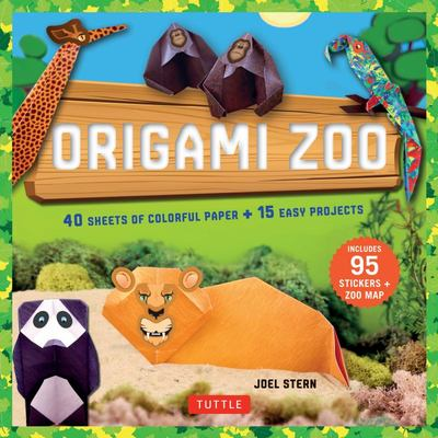 Origami Zoo Kit : Origami Kit with Book, 40 Papers, 95 Stickers, Zoo Map