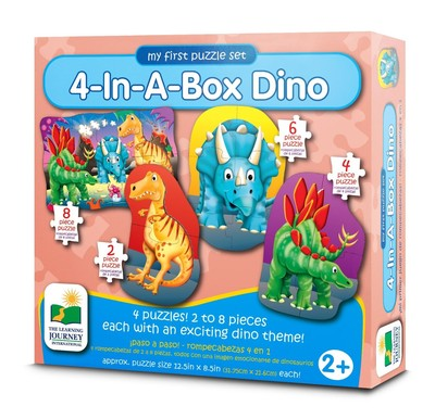 4 in a Box Dino Puzzle Set (Step Ups)