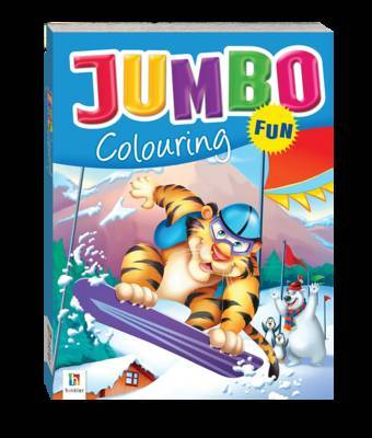 Jumbo Colouring Fun Blue Tiger