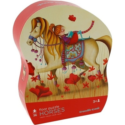 Horses 36 pc Shaped Floor Puzzle