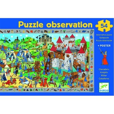 Knights Observation Poster & Puzzle 54pc