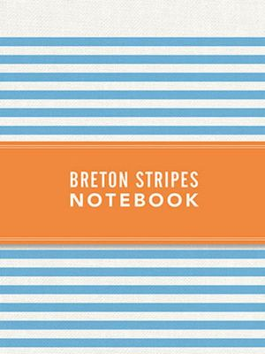 Breton Stripes Notebook - Sky Blue