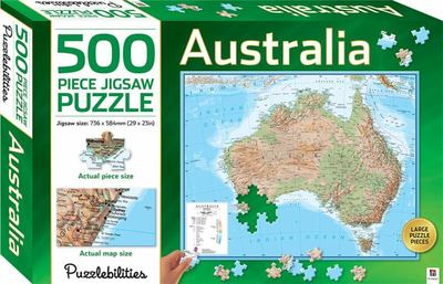 Australia Map: 500 Piece Jigsaw Puzzle (63342) Puzzlebilities