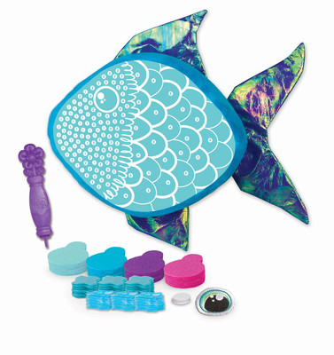 Rainbow fish pillow plush craft fabric by number the for Rainbow fish fabric