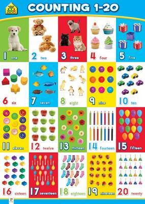 Counting 1-20 (School Zone Wall Chart)