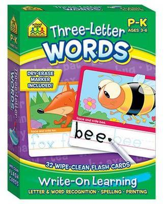 Three-Letter Words (School Zone Flash Cards)