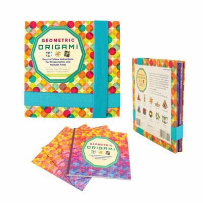 Geometric Origami Kit - Includes 75 Sheets of Origami Paper and Instructions for 10 Eye-Popping Folds