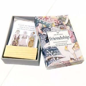 DFR Friendship: Box of 24 Heartfelt Quotations Celebrating Friends (Little Affirmation Cards)