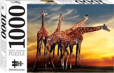 Giraffes, Open-Air Zoo France: 1000 Piece Jigsaw Puzzle Mindbogglers