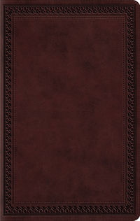 ESV Large Print Thinline Bible Mahogany