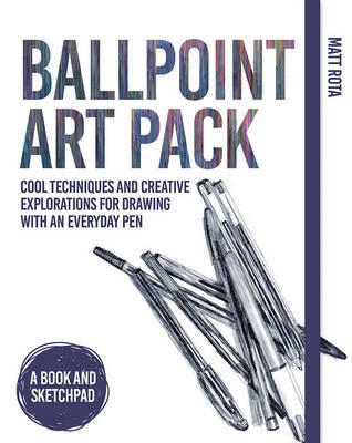 Large ballpoint art pack cool techniques and creative explorati ons for drawing with an everyday pen a book and sketchpad