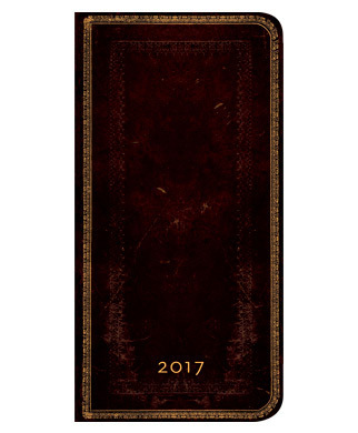 PaperBlanks - Black Moroccan Slim - HOR Week at a Time - Diary 2017