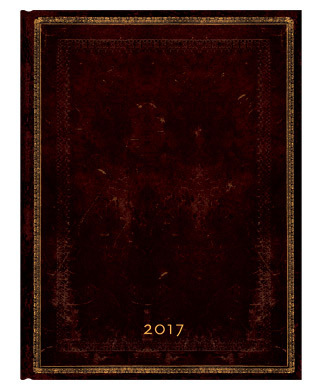 PaperBlanks - Black Moroccan Ultra - HOR Week at a Time - Diary 2017