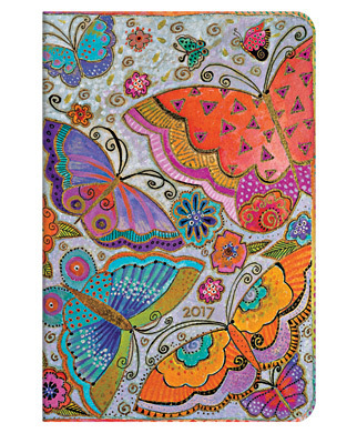 2017 Diary PaperBlanks - Flutterbyes Mini - HOR - Week at a Time