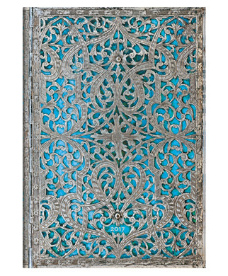 Paperblanks Diary 2017 - Maya Blue Midi - Day at a Time