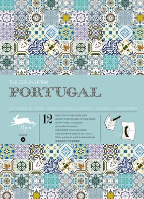 Portuguese Tiles: Wrapping Paper Book