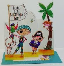 Ahoy There Birthday Boy! Pirate card