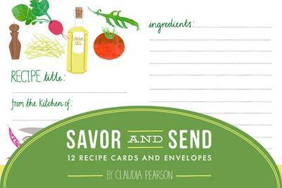 Savor and Send: 12 Recipe Cards and Envelopes