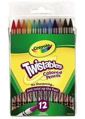 Twistable Coloured Pencils 12-Pack