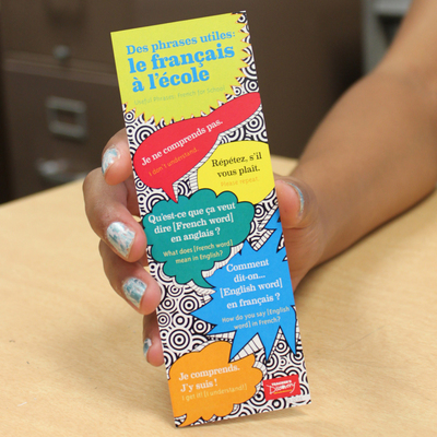 Bookmarks: French Useful Phrases (pack of 10)
