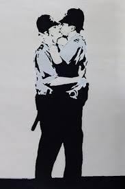 Print Banksy: Kissing Coppers A3