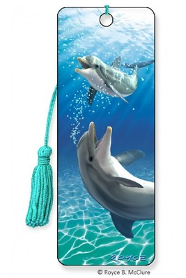 Dolphins Bubbles 3D Bookmark