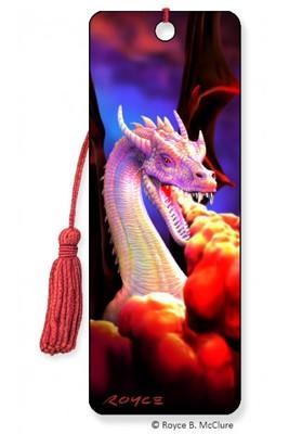3D Bookmark Dragon Fire