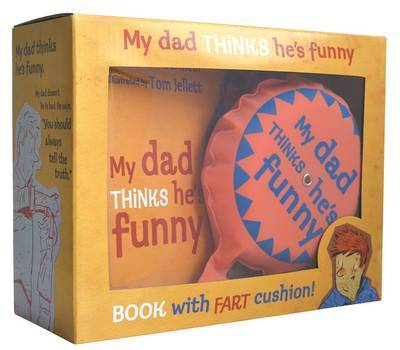 My Dad Thinks He's Funny Mini Book with Fart Cushion!