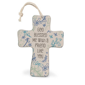 God Blessed Me Ceramic Cross