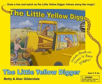 The Little Yellow Digger Trace 'n' Race Set