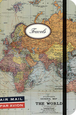 World Map Small Lined Notebook