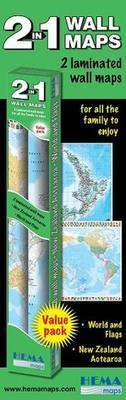 New Zealand & World Wall Map Set (2 Maps in 1 Box)
