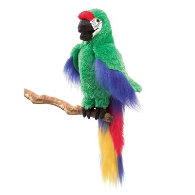 Green Macaw Puppet