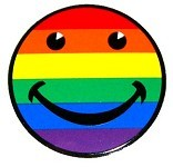 Sticker - Rainbow Smilie Face