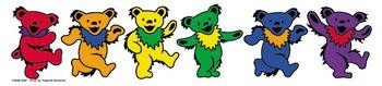 Sticker - Rainbow Dancing Bears