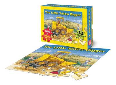The Little Yellow Digger Book & Jigsaw Puzzle