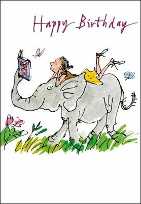 Card Elephant & Girl (Quentin Blake)