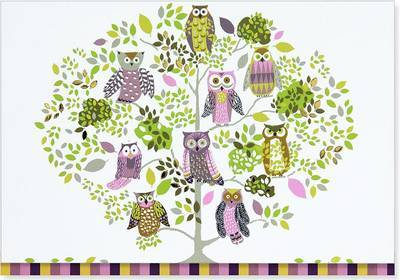 Notecards Owl Forest pk14
