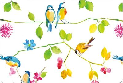 Notecards Watercolor Birds pk14 (4544)