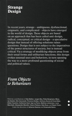 Strange Design - from Objects to Behaviours
