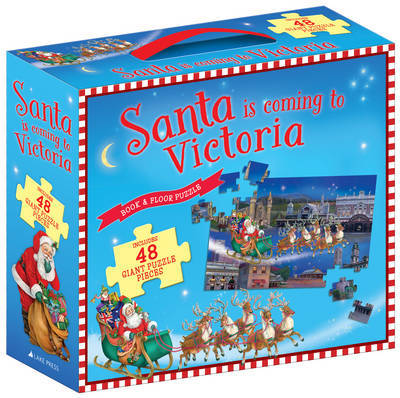 Santa is Coming to Victoria Book & Floor Puzzle - Xmas Stock