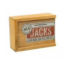 Wooden Jacks: How Many can You Pick Up?