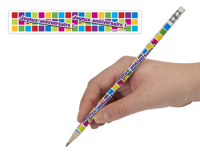 French birthday Pencils - Joyeux Anniversaire (dozen)