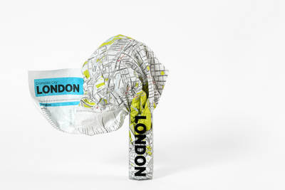 London Crumpled City Map