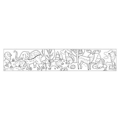 Animals of the World Colouring Roll