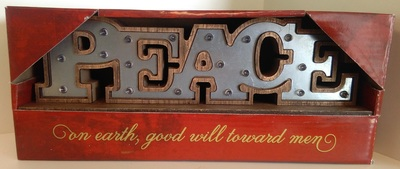 Tabletop Plaque Christmas Peace W/Led