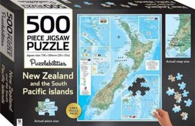 New Zealand & South Pacific Islands Map - 500-Piece Jigsaw Puzzle (905339) Puzzlebilities