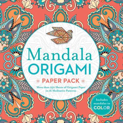 Mandala Origami Paper PackMore Than 250 Sheets of Origami Paper in 16 Meditative Patterns