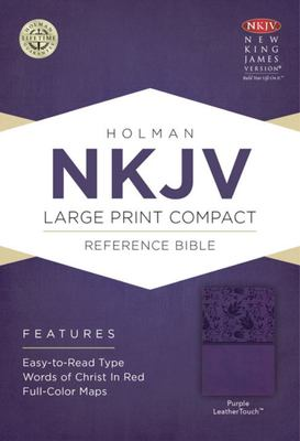 NKJV - Large Print Compact Reference Bible (Purple)