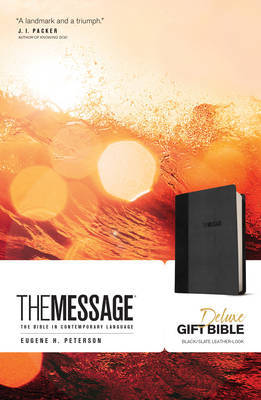 The Message (Deluxe Gift Bible - Slate Grey)